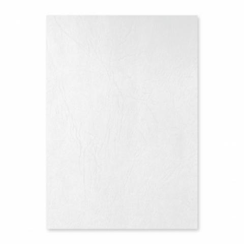 Coperta carton, imitatie piele, alb, Ecada