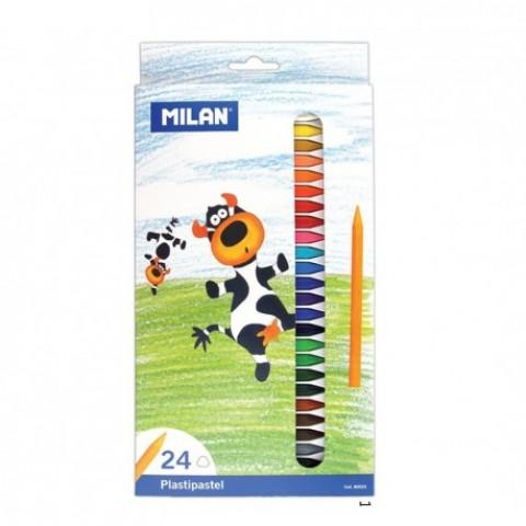Creion color, 24 culori, cerat, Milan