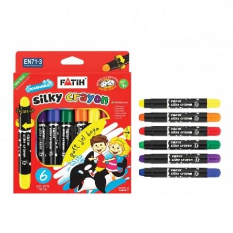 Creion color, 6 culori cu gel, Fatih