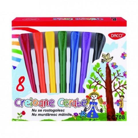 Creion color, 8 culori cerate, Daco