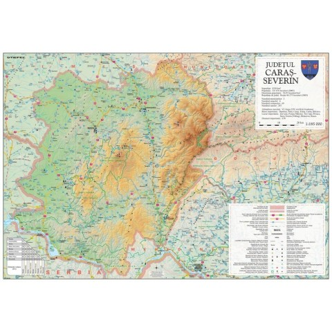 Harta - judeţul CARAŞ – SEVERIN
