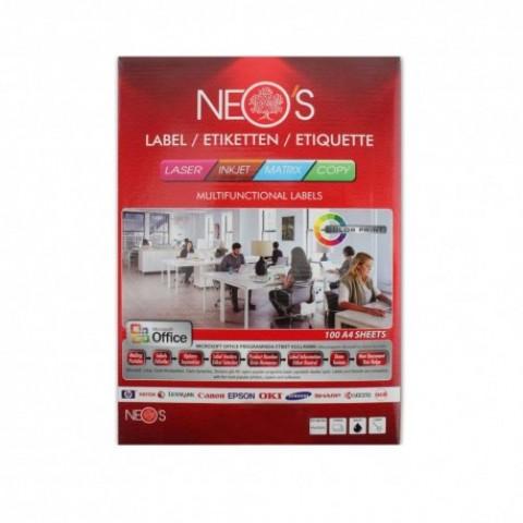 Etichete autoadezive A4, 65/coala, 100 coli/top, Neo'S