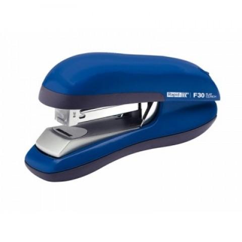 Capsator albastru 24/6, 30 coli, capsare plata, Rapid F30