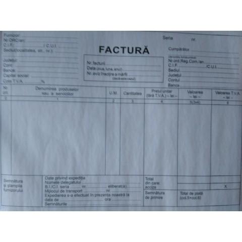 Facturier A5, cu TVA, 3 exemplare, personalizat