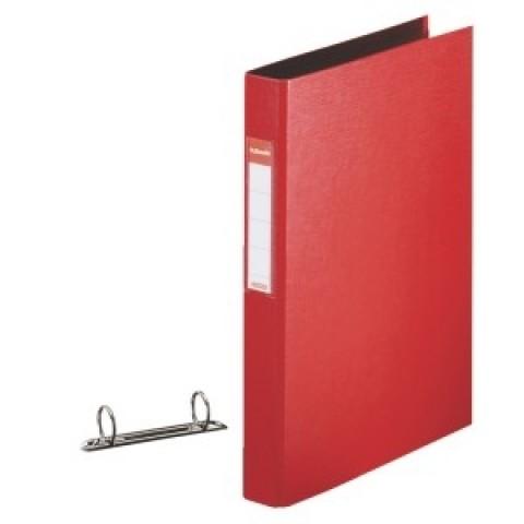 Caiet mecanic A4, 2 inele, rosu Esselte Standard