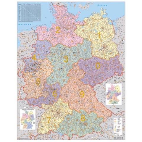 Germania harta cu coduri poştale