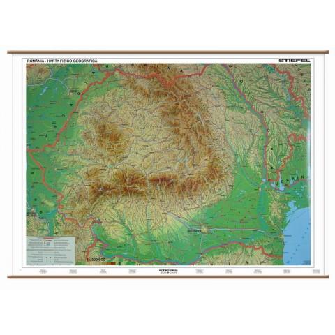 Romania – harta fizico – geografica