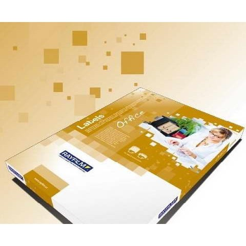 Etichete autocolante lucioase albe, 105x57 mm, 10/A4