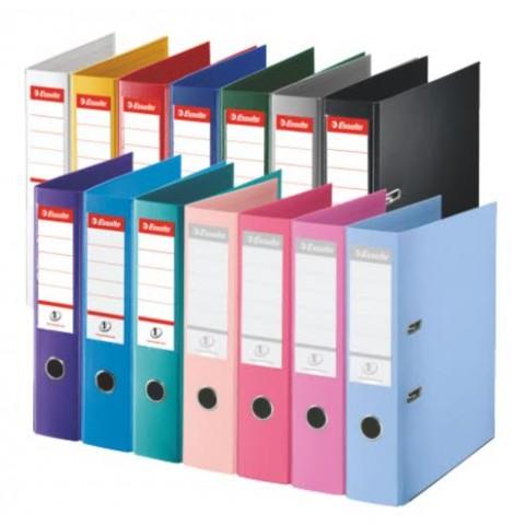 Biblioraft A4 plastifiat 5 cm, Standard, diverse culori, Esselte