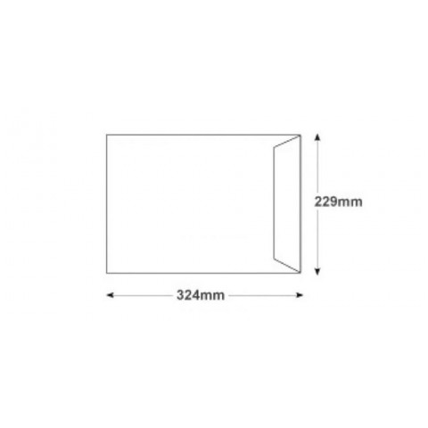 Plic C4, siliconic latura scurta, 229 X 324 mm, 250 bucati