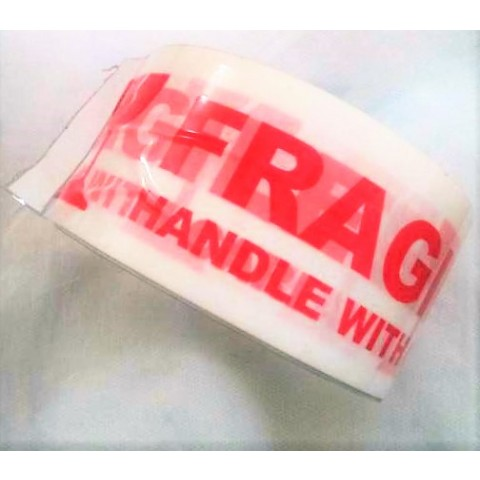 "Banda adeziva personalizata cu textul ""FRAGIL - Handle with care"""