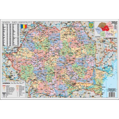 Romania Administrativa – Mapa de birou