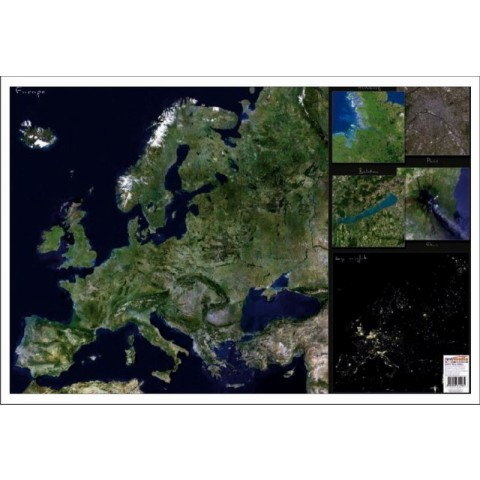 Europa Imagine din satelit – Mapa de birou