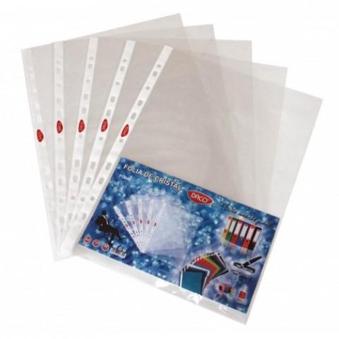 Folie protectie, A4, cristal, 40micro, 100/set, Daco