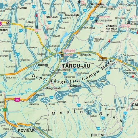 Harta - judeţul GORJ
