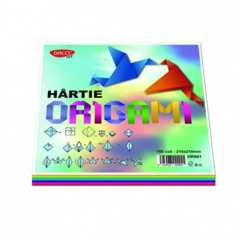 Hartie origami, 21x21cm, 100/set, Daco