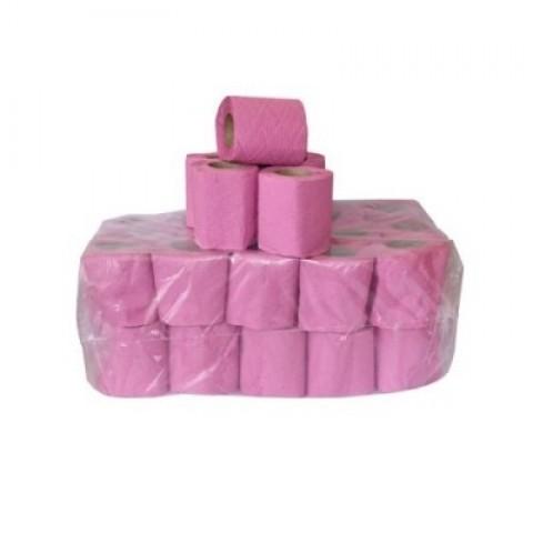 Hartie igienica, roz/gri pentru suport, 40 role/bax