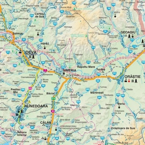 Harta - judeţul HUNEDOARA