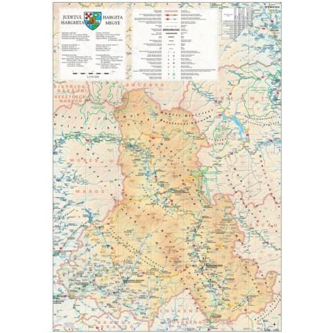 Harta - judeţul HARGHITA