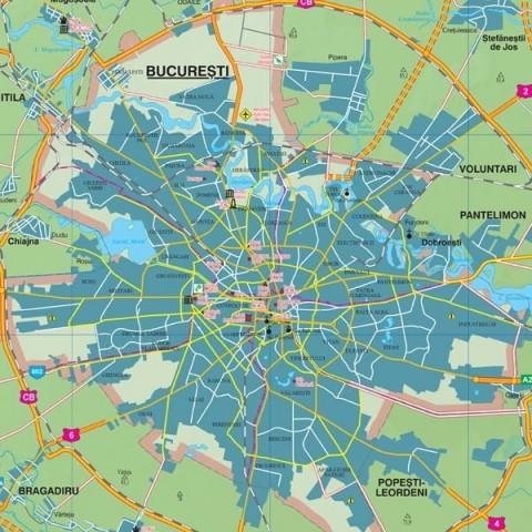 Harta - judeţul ILFOV