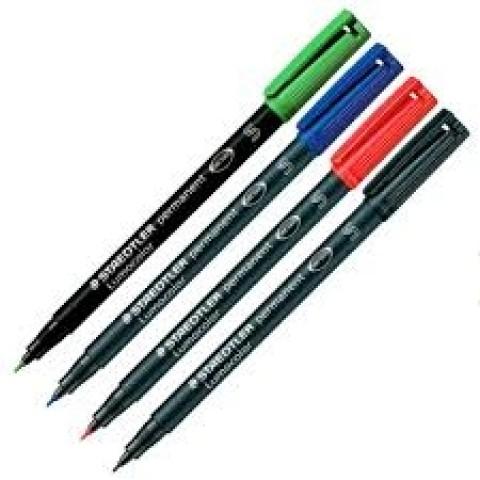 Marker OHP Lumocolor negru 0.4 mm, Staedtler