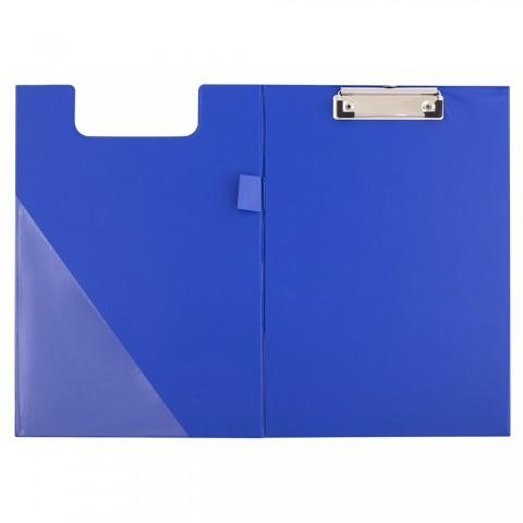 Clipboard dublu, A4, albastru, D.rect