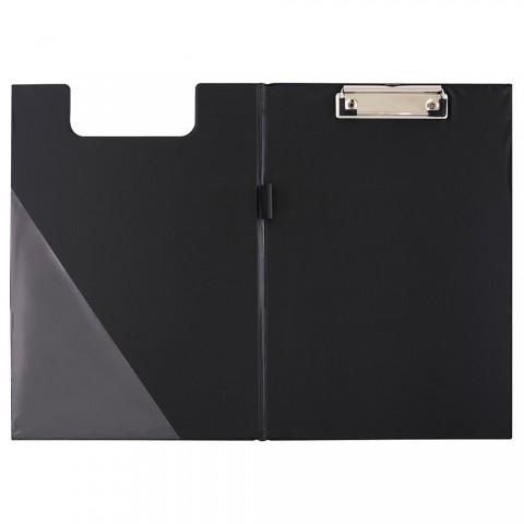 Clipboard dublu, A4, negru, D.rect