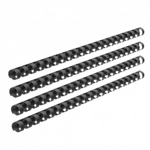 Inele plastic, indosariere, 12mm, 100 bucati, negru, Ecada