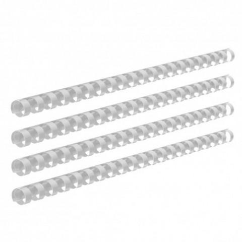 Inele plastic, indosariere, 12mm, 100 bucati, alb, Ecada