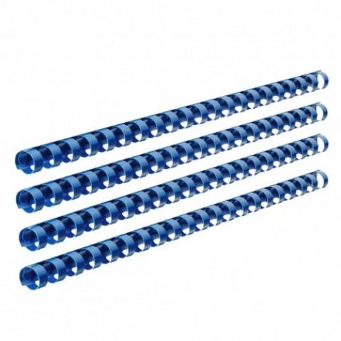 Inele plastic, indosariere, 8mm, 100 bucati, albastru, Ecada