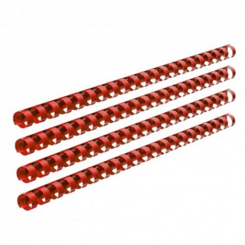 Spirale plastic, indosariere, 8mm, rosu
