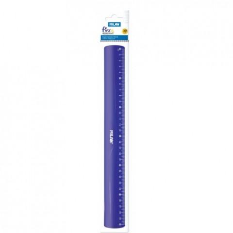 Liniar 30cm, flexibil, albastru, Milan