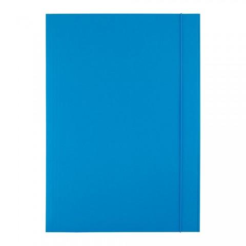Mapa cu elastic, 300 grame, albastru, D.rect