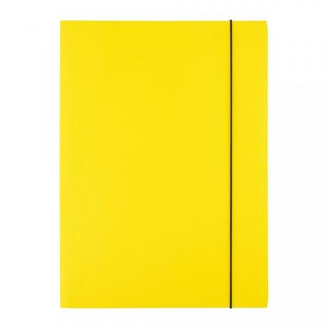 Mapa cu elastic, 300 grame, galben, D.rect
