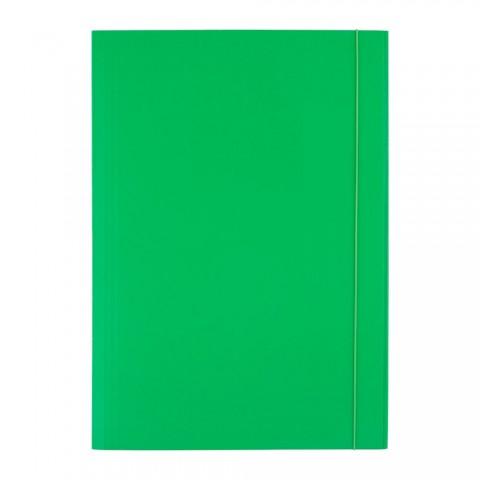Mapa cu elastic, 300 grame, verde, D.rect