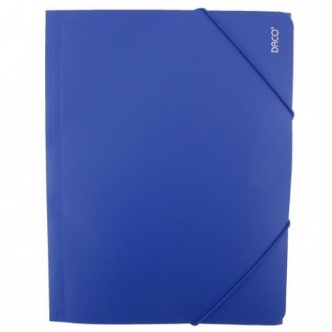 Mapa plastic cu elastic, albastru, Daco