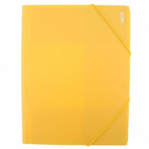 Mapa plastic cu elastic, galben, Daco
