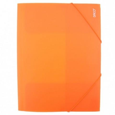 Mapa plastic cu elastic, portocaliu, Daco