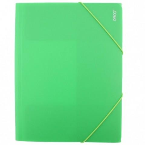 Mapa plastic cu elastic, verde deschis, Daco