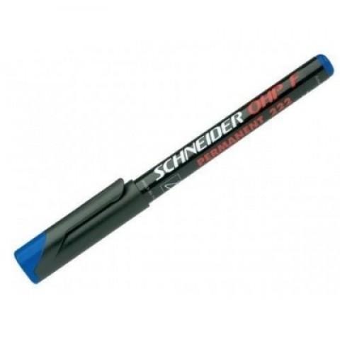 Marker OHP Schneider, F 222, albastru 0.7mm