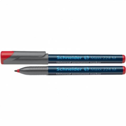 Marker OHP Schneider, M 224, rosu 1mm