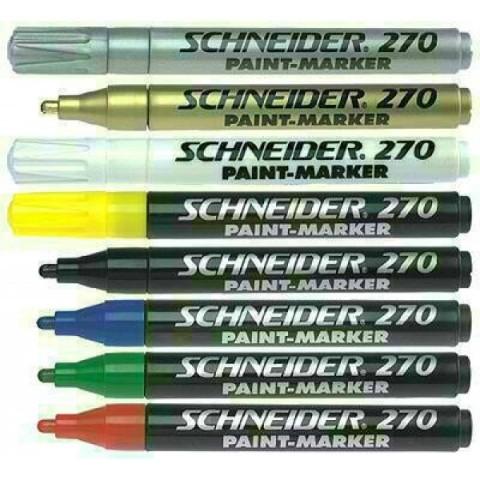 Marker cu vopsea Schneider 270 diverse culori 1-3mm