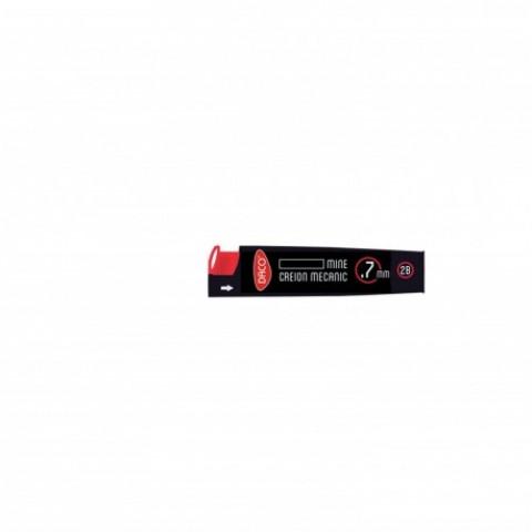 Mina creion mecanic, 0.7 mm, duritate 2B, Daco