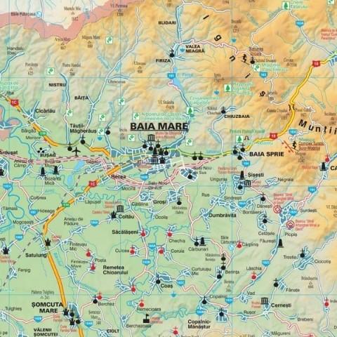 Harta - judeţul MARAMUREŞ