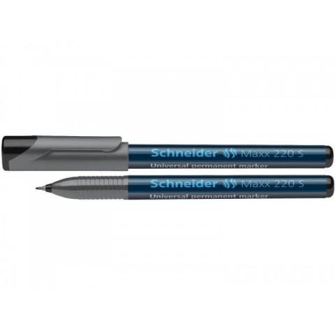 Marker OHP Schneider, S 220, negru 0.4mm