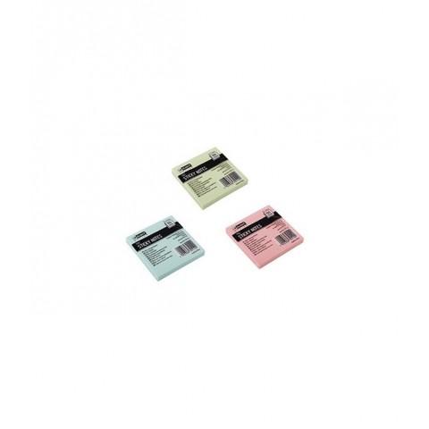 Notes adeziv, 75x75 mm, roz pal, D.rect