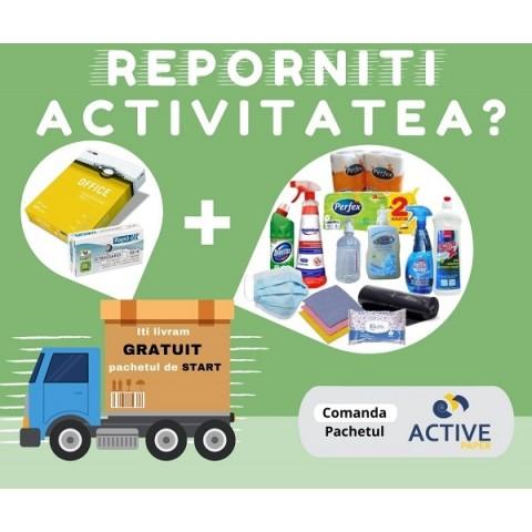 Pachet birou, papetarie + dezinfectie, mediu