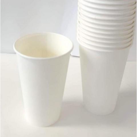 Set 50 pahare de carton, albe, 207 ml (7 oz)