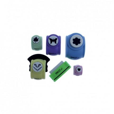 Perforator hobby, hartie, set 6 diverse, Daco