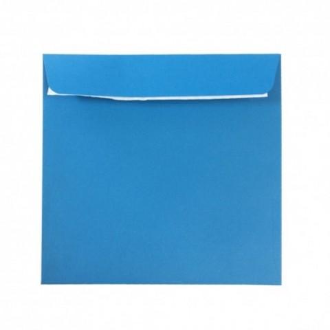 Plic 14x14 cm patrat siliconic, albastru, Daco